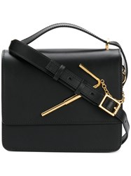 Sophie Hulme Satchel With Gold Tone Hardware Women Leather One Size Black