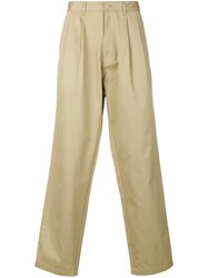 E. Tautz Loose Fit Chinos Cotton Nude Neutrals