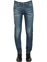 Calvin Klein Jeans Ckj 026 Slim Denim Cuff Up Logo Blue
