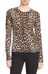 Equipment Women's 'Shirley' Leopard Print Silk And Cashmere Sweater Natural
