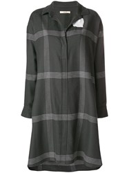 Odeeh Striped Shirt Dress Grey