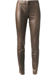 Incotex Cropped Tailored Trousers Brown