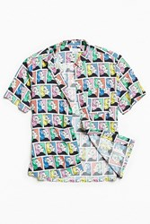 Urban Outfitters Uo Comic Girl Rayon Short Sleeve Button Down Shirt Assorted