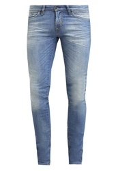 Meltin Pot Slim Fit Jeans Medium Wash Blue Denim