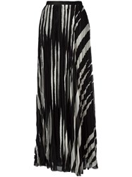 Tory Burch Pleated Maxi Skirt Black