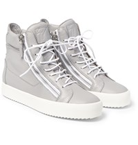 Giuseppe Zanotti Leather High Top Sneakers Gray
