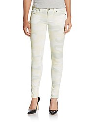 True Religion Camo Five Pocket Skinny Jeans Winter White