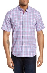 Tailorbyrd Ale Regular Fit Check Sport Shirt Pink
