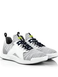 Kenzo Ozzy Mesh Panelled Tiger Heel Trainers White