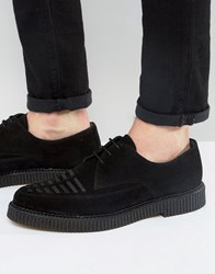Religion Suede Creeper Derby Shoes Black
