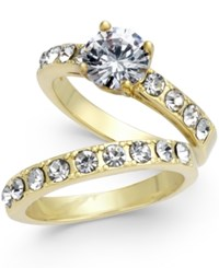 Charter Club Gold Tone 2 Pc. Set Cubic Zirconia Rings Created For Macy's
