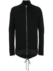 Lost And Found Rooms Kangaroo Pockets Zipped Sweatshirt Black