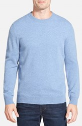 Men's Big And Tall Nordstrom Cashmere Crewneck Sweater Blue Celestial