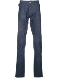 Isaia Straight Leg Trousers Blue