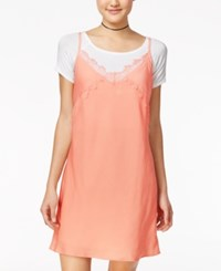 American Rag Slip Dress With T Shirt Only At Macy's Coral
