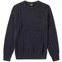 A.P.C. Wexford Intarsia Crew Knit Grey