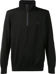 Paul And Shark High Neck Zipped Jumper Black