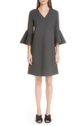 Lafayette 148 New York Holly Flare Cuff Dress Nordstrom Exclusive Smoke