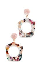 Madewell Geo Drop Earrings Pale Rainbow Multi