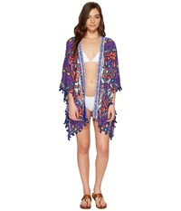 Trina Turk Balinese Batik Kimono Cover Up Multi Women's Swimwear