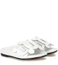 Anya Hindmarch Leather Slip On Sandals White