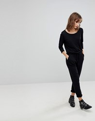 Jdy Relaxed 3 4 Sleeve Jumpsuit Black