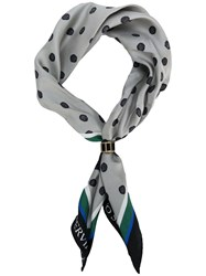 Ermanno Scervino Polka Dotted Scarf Grey