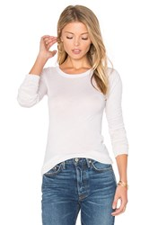 Enza Costa Crew Neck Long Sleeve Tee Beige