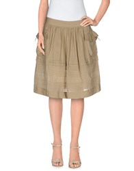 Ermanno Scervino Scervino Street Skirts Knee Length Skirts Women Beige
