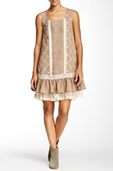 Ryu Ruffle Sleeveless Dress Beige