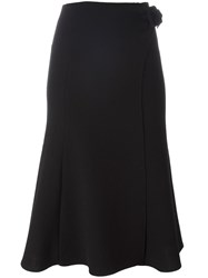 Ermanno Scervino High Rise A Line Skirt Black