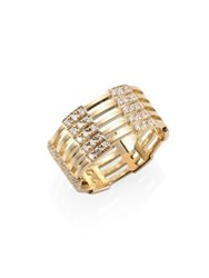 Melissa Kaye Izzy Diamond And 18K Yellow Gold Ring