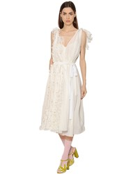 Rochas Floral Cotton And Silk Voile Dress