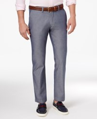 Tommy Hilfiger Men's Tailored Fit Cotton Chinos Medium Chambray
