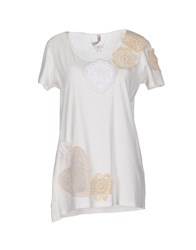 Scee By Twin Set Topwear T Shirts Women Ivory