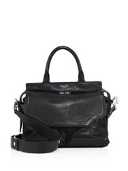 Rag And Bone Pilot Leather Suede Satchel Black
