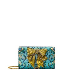 Gucci Broadway Brocade Clutch Bag Multi Pattern