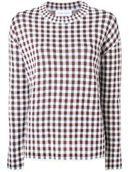 Christian Wijnants Knitted Check Sweater White