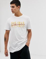 New Look T Shirt With San Fran Print In White