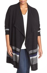 Halogenr Plus Size Women's Halogen Cashmere Long Open Front Cardigan