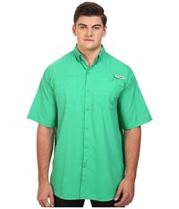 Columbia Tamiami Ii S S Tall Dark Lime Men's Short Sleeve Button Up Green
