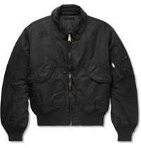 Alyx Alpha Industries Printed Distressed Shell Bomber Jacket Black