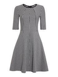 Marella Recent Houndstooth Check Shift Dress Black