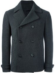 Z Zegna Double Breasted Coat Grey