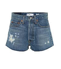 Re Done The Short Denim Shorts Blue