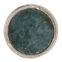 Jil Sander Green And Silver Round Stone Pin