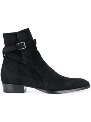 Saint Laurent Signature Wyatt 30 Jodhpur Boots Black