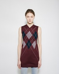 Vetements Argyle Sweater Dress