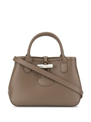 Longchamp Roseau Tote Bag Brown