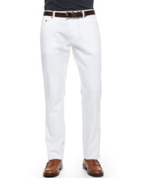 Salvatore Ferragamo 5 Pocket Denim Jeans White